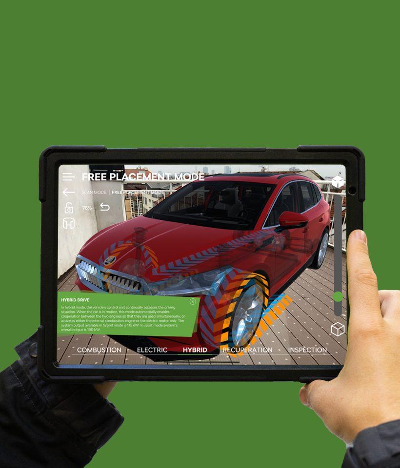 AR & VR presentation of Electromobility