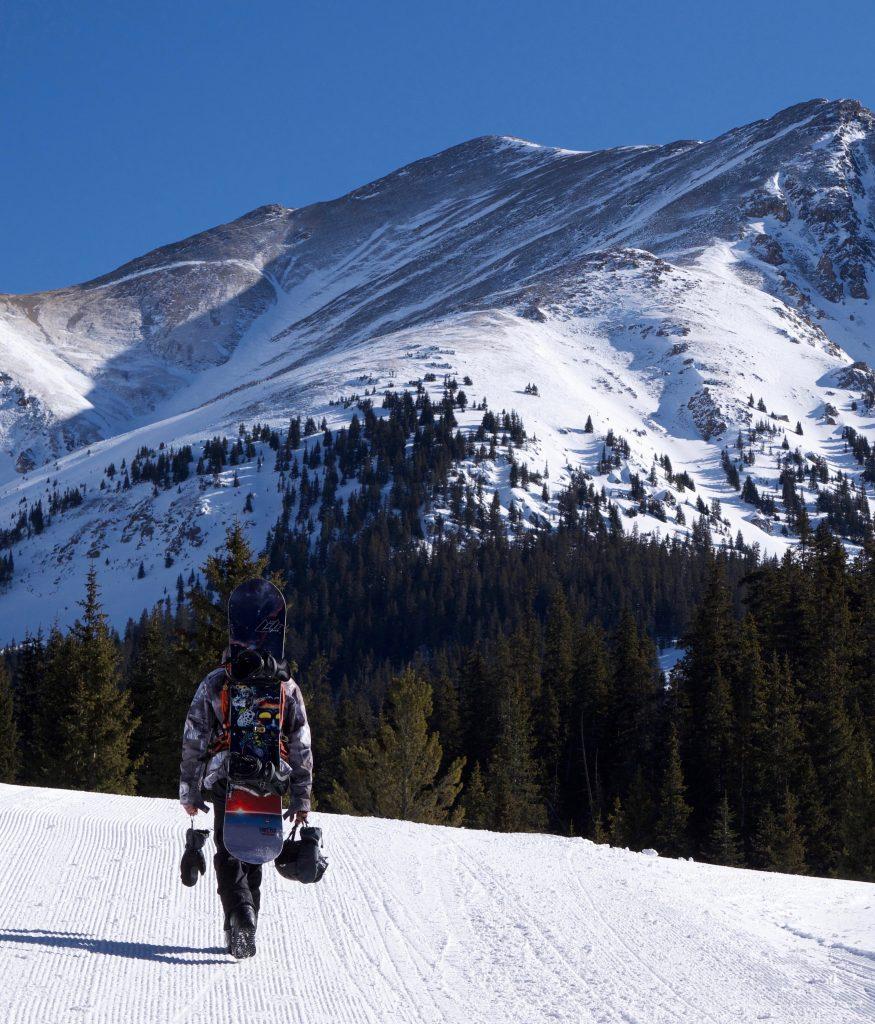 snowboarding mountain view